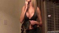 Strip Teasing From The Blonde MILF