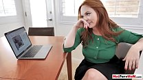 Busty redhead MILF stepmother plays a dangerous game thumbnail