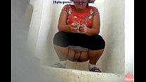 Women Hidden Pissing in the Public Toilet