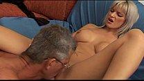 Hot babe with big tits seduces a mature man... thumbnail