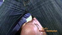 Mistress tight jean facesitting fetish