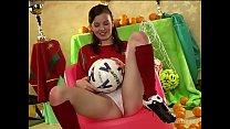 Cute girl is fan of Portugal - 9Club.Top