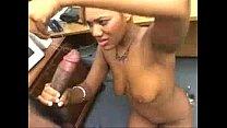 ebony gives great blowjob