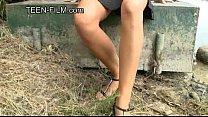 Julie teen upskirt outdoor