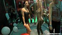 Club chicks dancing erotically