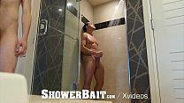ShowerBait Str8 guy shower fuck and cum dumped on