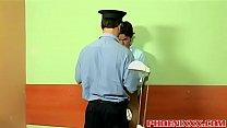 Prisoner twink Lorenzo fucks anally horny offic... />                             <span class=