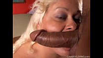 Busty blonde BBW beauty loves to suck cock and eat cum preview image
