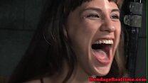 BDSM submissive gagging hard on masters cock Vorschaubild