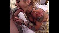 PornSlap Tattooed Milf Sarah Jessie Enjoys Warm...
