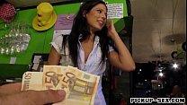 Barmaid Alexa Tomas flashes boobs and slammed f...