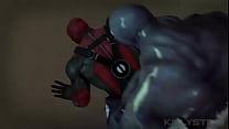 Nightwing deepthroats Deadpool