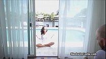 Ebony bikini babe sucking dick - download porn videos