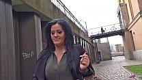 GERMAN SCOUT - BBW Teen Ashley bei Strassen Casting gefickt Vorschaubild