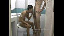 Thai Hooker Sucks Cock in the Toilet - 9Club.Top