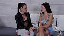 Innocent looking Lana Rhoades wants to be a kinky lesbian