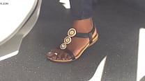 Hidden cam sexy ebony feet on train - more at GirlsDateZone.com صورة