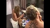 Sexy blonde 36D boobs seen nipples hidden pierc...