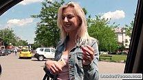 Blonde Czech teen bangs in car POV with stranger [금발여자 blonde]