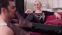 Stocking Ladies play with guys