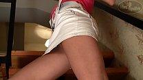 Beautiful Girl In Mini Skirt Vorschaubild