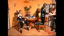 Mistress fucks heer male and female slaves