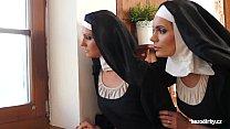 Two nuns one dildo