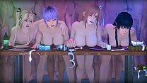 สี่สาวนมใหญ่โดนล่อมาเล่นเซ็กหนังxการ์ตูนล่อกันนัวเย็ดหนักจับเสียบเสยกันไม่ยั้ง