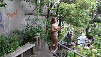 Image: Nude in San Francisco:  Hot black teen walks around naked