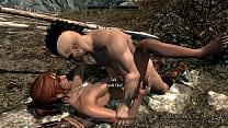 Skyrim Sexlab Bandit Gives Dovahkin Some Love.jpg