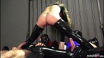 German BDSM - FETISCH LATEX DREIER MIT ANAL SEX SESSION IN DEUTSCH