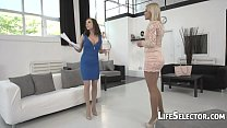 Two EU Babes Vs One Big Cock - Henessy, Cherry Kiss pornhub video