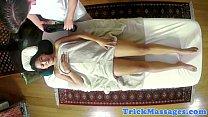 Oriental babe tugging dick during massage Thumbnail