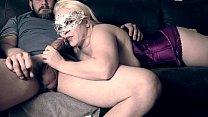 Thick busty MILF blowjob and fucking cum on big natural tits HD صورة