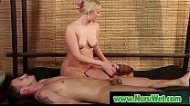 Busty japanesse masseuse gives nuru massage 01