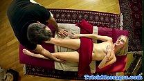 Spycam massage babe plowed by her masseur