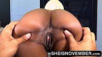 Ebony Babe Msnovember Spreading Her Black Pussy...