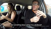 Threesome in fake driving school car - 9Club.Top