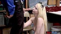 Rich blonde teen thief can not avoid the punishment [twerk teen] thumbnail