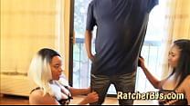 Nasty Ebony 2 Girl Big Titty BlowJob