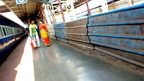Bhojpuri Aunty BOOBS in Station Image