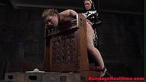 Femdom nun strapons submissive after flogging