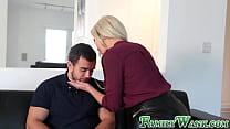 Superb MILF Nina Elle penetrated by beefy stepson