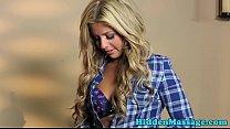 Massage loving babe banged on spycam video