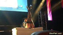 German Busty Milf On Public Stage
