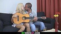 Sweet blonde girl cheats her boyfriend