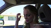 Teen hitchhiker takes huge dick pov thumbnail