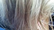blond sucking my cock in car! صورة