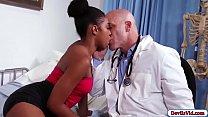 Ebony patient sucks her doctors cock porn image