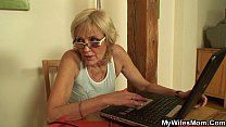 Fucking old mother inlaw on the table thumbnail